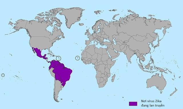 bản đồ Zika