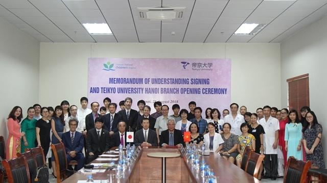 Lễ ký kết Biên bản ghi nhớ hợp tác giữa Bệnh viện Nhi Trung ương và Đại học Teikyo, Nhật Bản