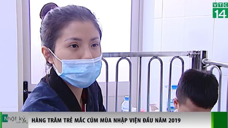 Hàng trăm trẻ mắc cúm mùa nhập viện đầu năm 2019