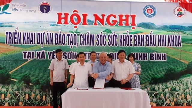 Triển khai Dự án Đào tạo chăm sóc sức khỏe ban đầu nhi khoa lần đầu tiên tại tuyến xã của Ninh Bình