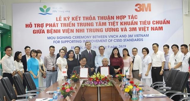 Bệnh viện Nhi Trung ương hợp tác phát triển và xây dựng Trung tâm tiệt khuẩn tiêu chuẩn tại Việt Nam.