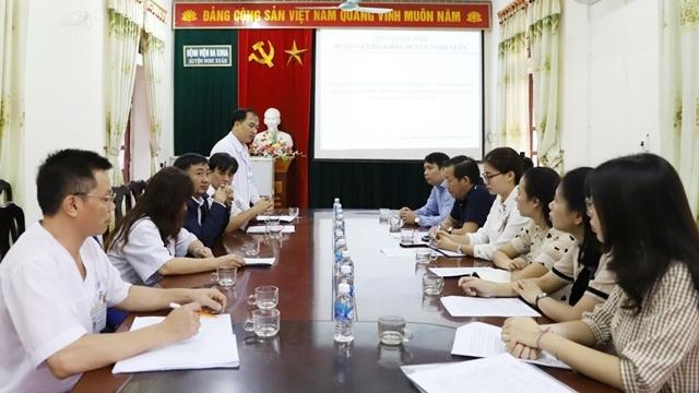 Bệnh viện Nhi Trung ương khảo sát Dự án đào tạo, chăm sóc sức khỏe ban đầu về nhi khoa tại bệnh viện Nghi Xuân