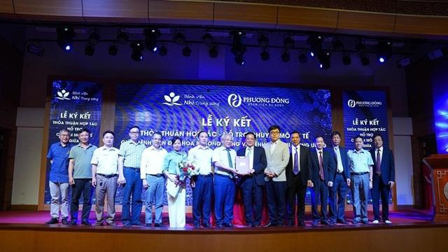 Bệnh viện Nhi Trung ương ký thỏa thuận hợp tác  toàn diện với Bệnh viện đa khoa Phương Đông