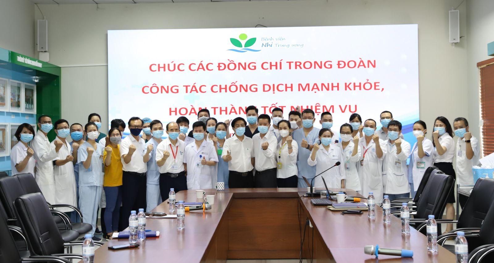 27 chiến sĩ áo trắng tinh nhuệ Bệnh viện Nhi TW chi viện Vĩnh Long và TP. Hồ Chí Minh