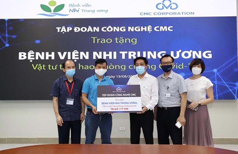 Công ty Cổ phần Tập đoàn Công nghệ CMC hỗ trợ Bệnh viện Nhi Trung ương phòng, chống dịch Covid -19