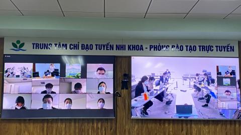 Bệnh viện Nhi Trung ương đào tạo trực tuyến về các bệnh truyền nhiễm cho sinh viên Đại học Teikyo, Nhật Bản