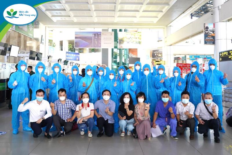 Đoàn cán bộ y tế Bệnh viện Nhi Trung ương lên đường hỗ trợ TP. Hồ Chí Minh chống dịch Covid – 19